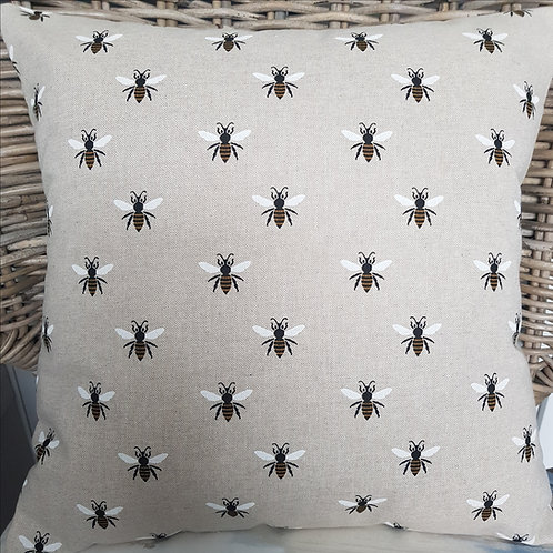 Bumble bees print cushion cover - Country Collection