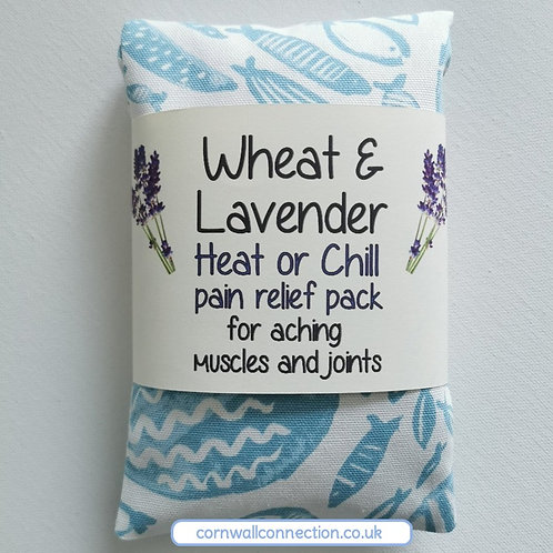 Wheat & Lavender bag - Heat pack/Chill pack - Healing, Pain relief - Aqua Fish