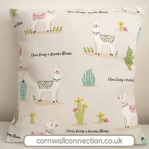 Drama Llama cushion cover - Llamas - Cactus - I love being a drama llama