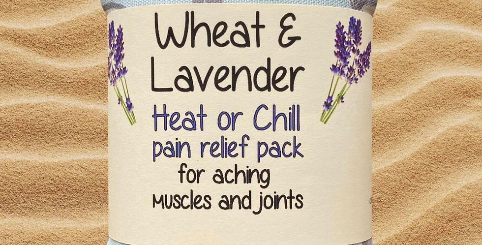 Wheat and Lavender bag - Heat pack/Chill pack - Healing, Pain relief - Gulls