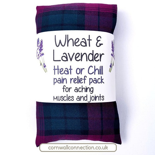 Wheat & Lavender bag - Heat pack/Chill pack - Healing, Pain relief - Tartan