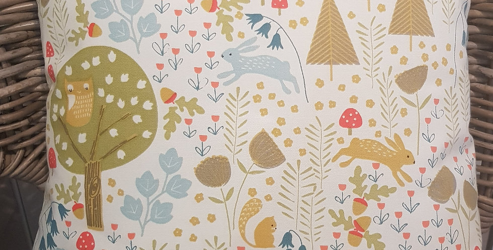 Country collection - Wild woodland cushion cover - hare - owl - deer - hedgehog