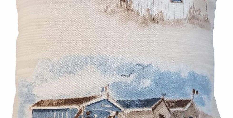 Designer Beach Huts cushion cover - Coastal - seaside