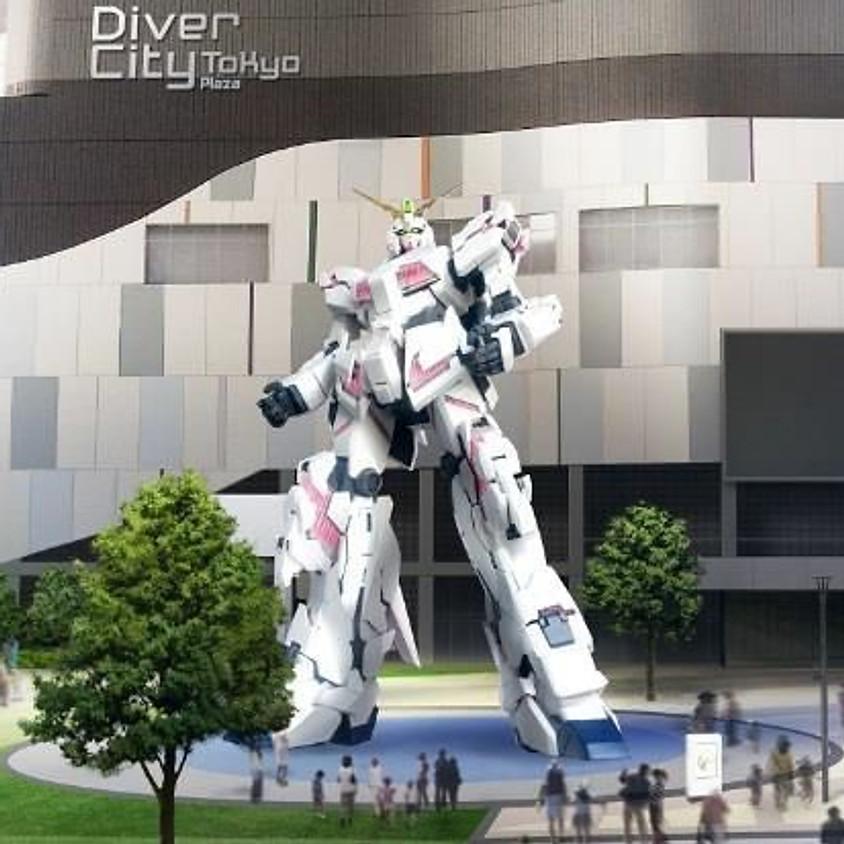 Täismõõduline Unicorn Gundami kuju tootmise ajakava