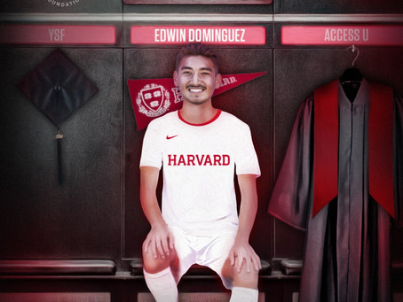 Edwin Domínguez committed to play soccer at Harvard University