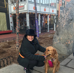 With Maya on the Pearl Street Mall in Boulder