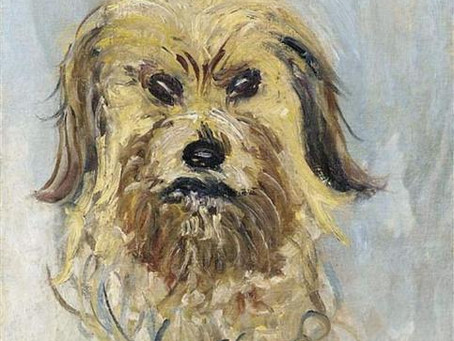Which artist painted this portrait of a Yorkshire Terrier?