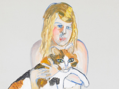 Which artist painted her granddaughter Victoria with her Calico?
