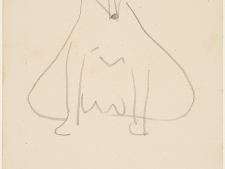 Which French artist made this drawing of a Fox Terrier?