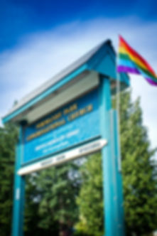 "Normandy Park UCC ""Normandy Park"" open affirming flag rainbow gay lesbian bi bisexual"