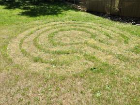 Backyard labyrinth