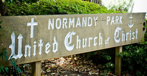 "NPUCC Normandy Park UCC ""Normandy Park"" united church of christ ""United church of christ"" sign ground grounds"