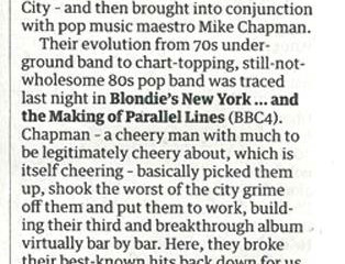 Blondie's New York... and the Making of Parallel Lines - Review