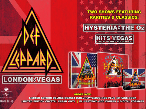 Def Leppard - London To Vegas, Hysteria Live At The O2 and Hysteria Live Available April 24th
