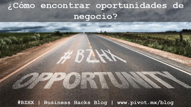 Encuentra oportunidades de negocio