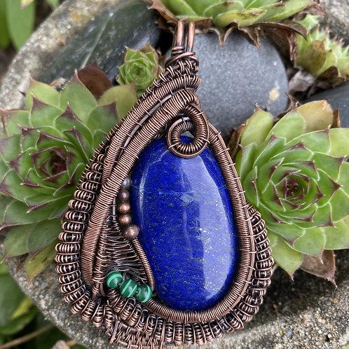 Lapis Luzuli with Malachite beads