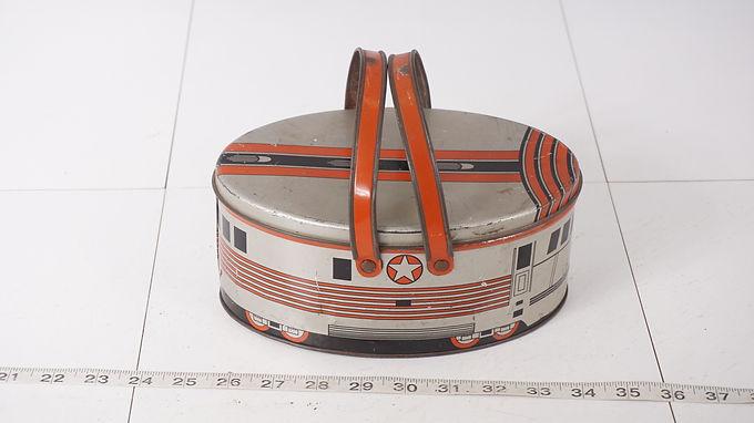 Burlington Train Tin Lunchbox
