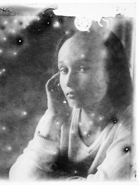Ulrike mit Glas / Eigenarchiv