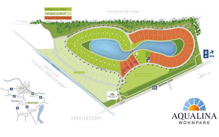 Lageplan Projekt Aqualina