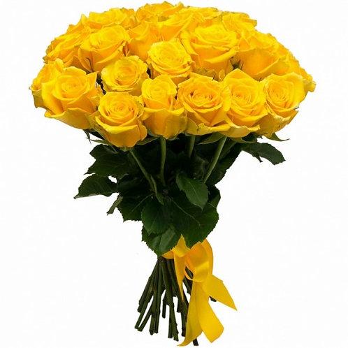 Букет из 25 желтых роз