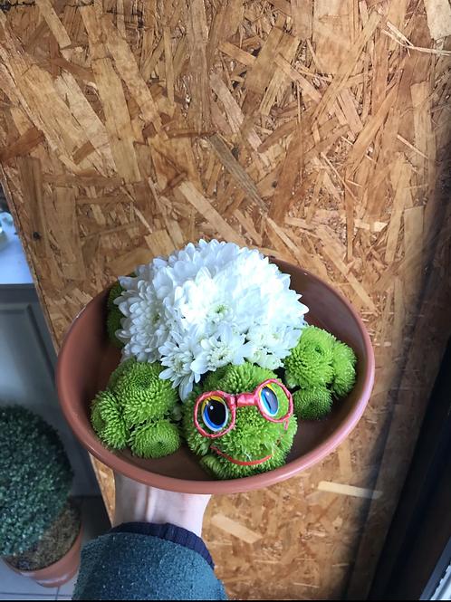 Игрушка из цветов Тортилла