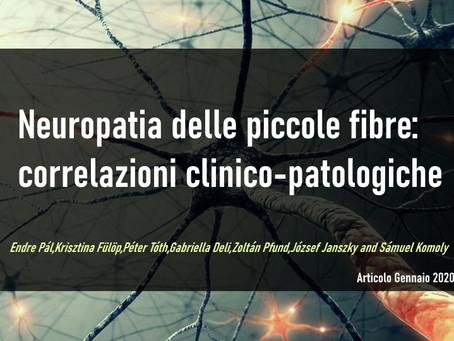 Neuropatia delle piccole fibre: correlazioni clinico-patologiche
