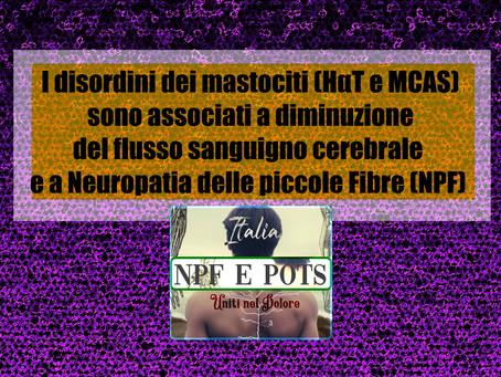 I disordini dei mastociti sono associati a diminuzione del flusso sanguigno cerebrale e a NPF