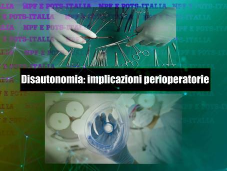 Disautonomia: implicazioni perioperatorie