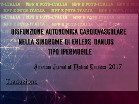 Disfunzione autonomica cardiovascolare nellaSindrome di Ehlers-Danlos - Tipo ipermobile