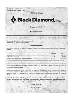 Black Diamond Inc.
