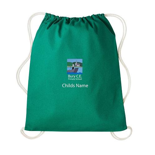 Bury C of E Primary School 100% Cotton Eco Friendly PE Bag