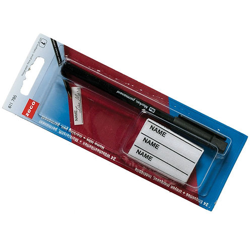 Name Tag Labels Kit With Waterproof Pen