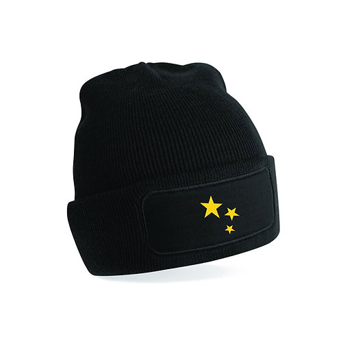 Supporters Mens Black Beanie Hat