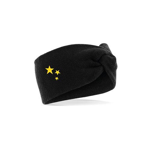 Supporters Black Twist Knit Headband