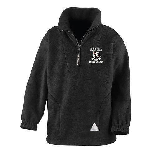 Steyning Grammar School PE Full and 1/4 Zip Black Fleece