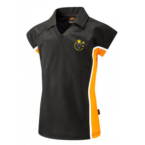 Girls Stars Collared V-Neck Polo Shirt