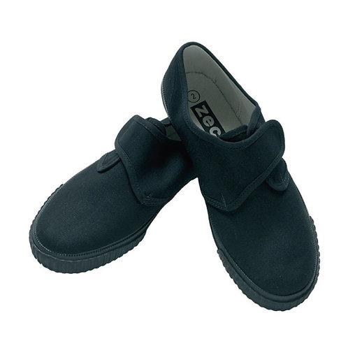Zeco Black PE Velcro Plimsolls