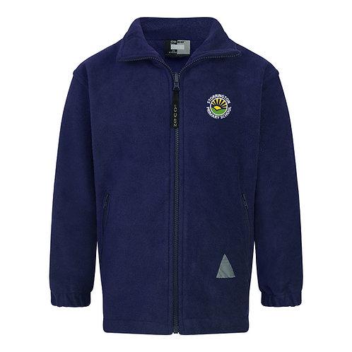 Storrington Primary Navy Blue Full Zip Fleece