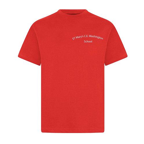 St Mary's Washington Red PE T-Shirt
