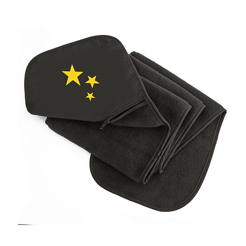Supporters Black Unisex Polartherm Fleece Scarf With Zip Hideaway Pocket