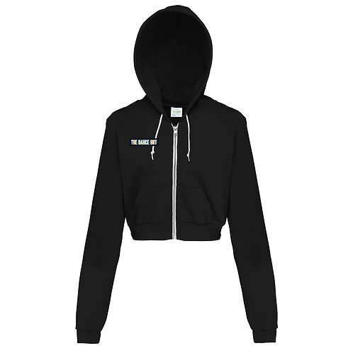The Dance Hut Sassy Cropped Zip-Up Hoodie