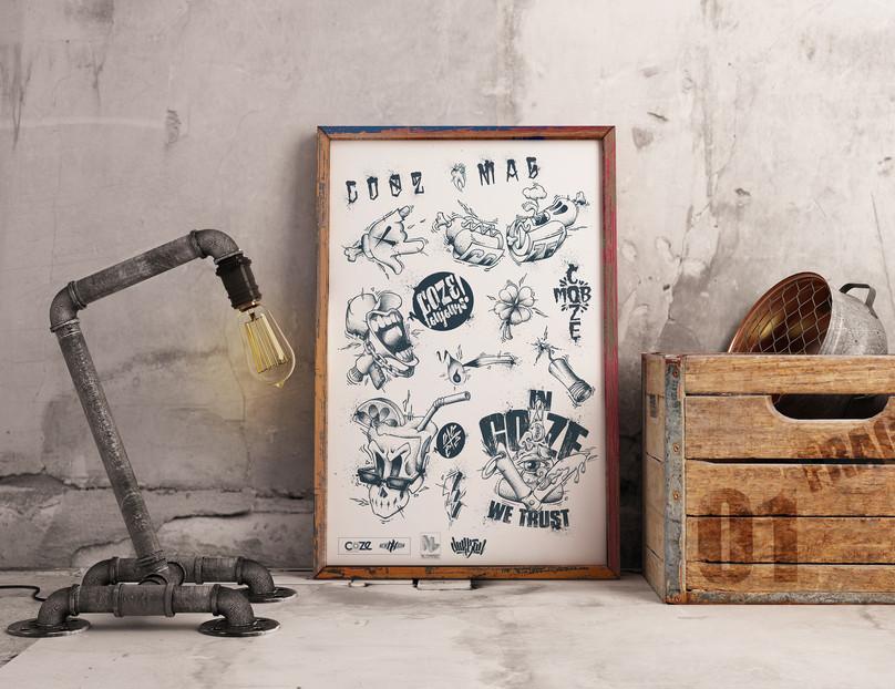 STAND TATTOO FLASH X COZE MAGAZINE / NL CONTEST