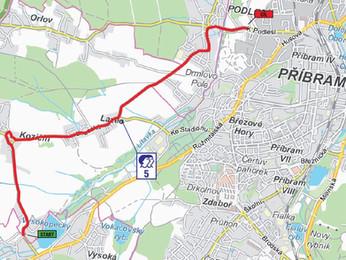 Mapy rychlostních zkoušek, přehled diváckých míst 38. SVK Rally Příbram