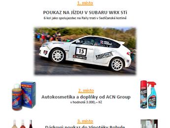 Fotosoutěž pro diváky a návštěvníky 39. SVK Rally Příbram