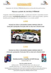 Fotosoutěž pro diváky 38. SVK Rally Příbram o zajímavé ceny