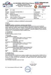 Prováděcí ustanovení č.1 (Covid opatření, servis bez přístupu diváků, změna času přejímek)