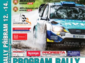 Prodej oficiálního programu 39. SVK Rally Příbram je již v plném proudu