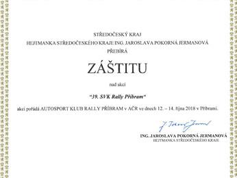 Záštity 39. SVK Rally Příbram