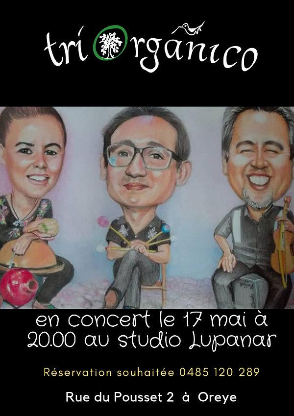en concert le 17 mai au studio Lupanar (