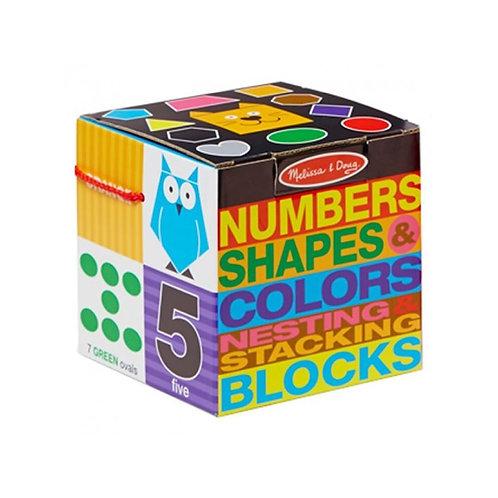 Number and Shape Nesting Blocks บล๊อกต่อและเรียงตัวเลข สี รูปร่าง